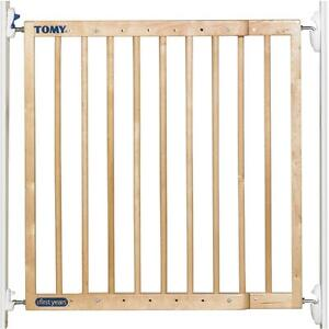 TOMY-BABY-EXTENDING-WOODEN-SECURITY-GATE-STAIRS-SAFETY-BARRIER-ONE-OR-TWO-WAY