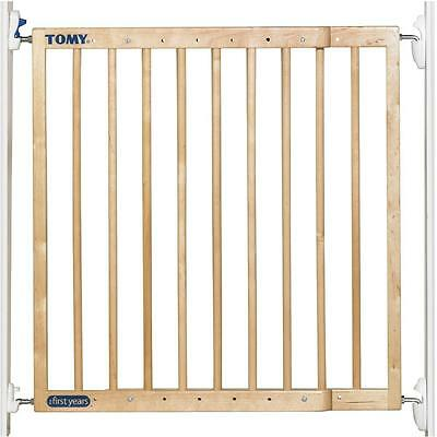 Tomy Baby Extending Wooden Security Gate Stairs Safety Barrier One Or Two Way Ebay