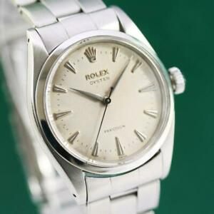 1958's ROLEX OYSTER PRECISION 6422 STAINLESS STEEL MANUAL WIND MEN'S WATCH  | eBay