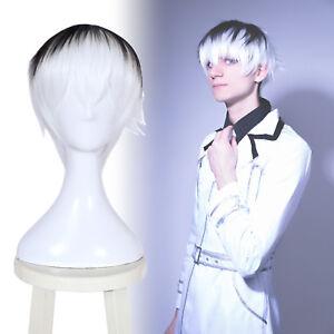 Tokyo Ghoul Re Kaneki Ken Sasaki Hise Cosplay Wig White Black Ombre