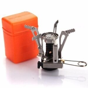 Portable Gas Camping Outdoor Hiking Picnic Foldable Stove Cookout Butane Burner