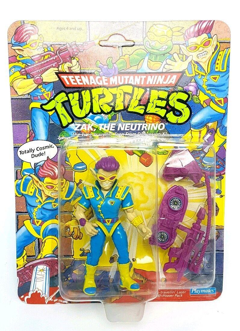 VINTAGE   ZAK THE NEUTRINO Teenage Mutant Ninja Turtles Figure   MOC Carded TMNT