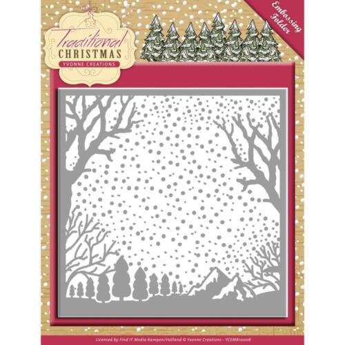 Winter Mountain Background Christmas Embossing Folder Find It Trading New