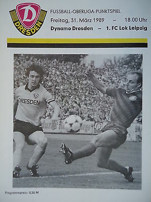 Lok Leipzig Programm 1988//89 SG Dynamo Dresden