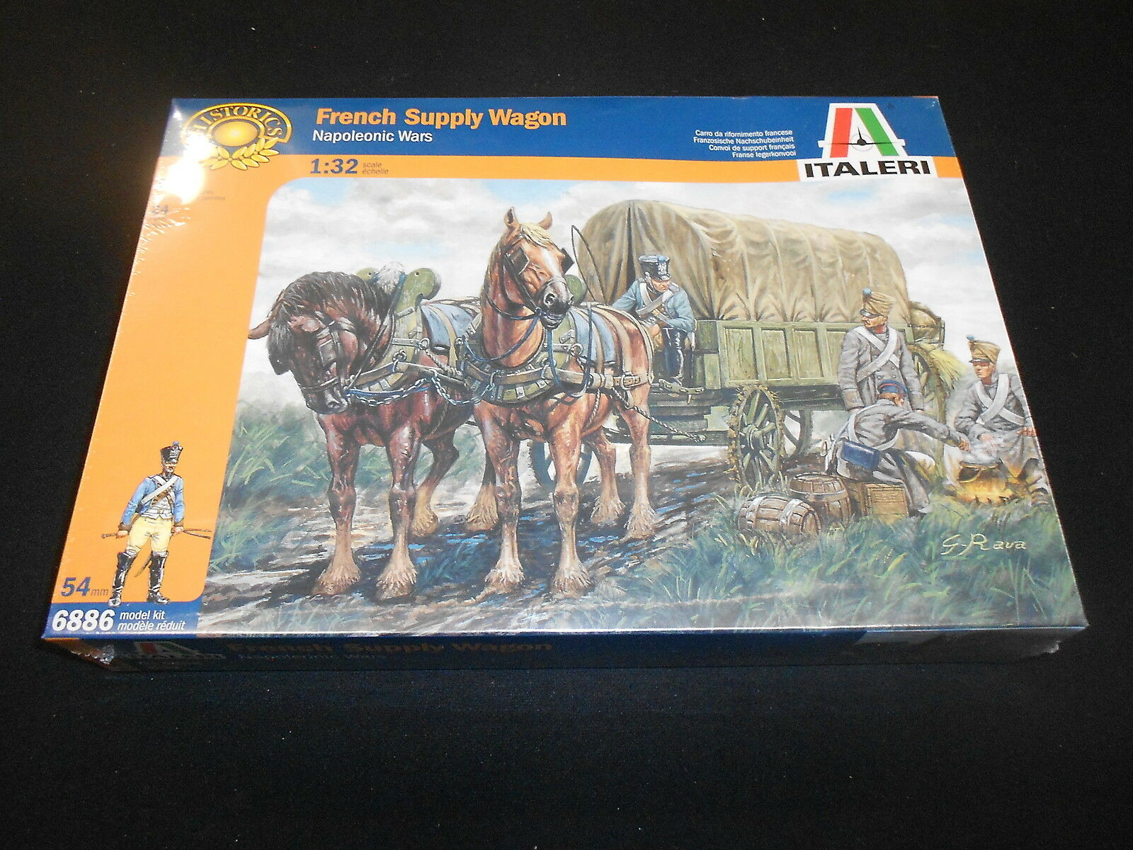 ITALERI 6886 1 32 FRENCH SUPPLY WAGON NAPOLEONIC ERA PLASTIC MODEL KIT