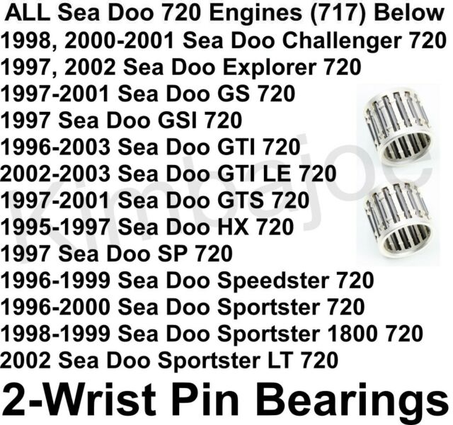 All Sea Doo 720 Engines 717 Pwc Listed Two  2  Wrist Pin