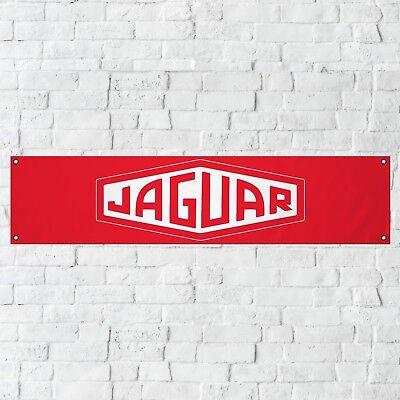 Jaguar Banner Garage Workshop PVC Sign Trackside Car Display White