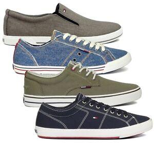 Tommy-Hilfiger-WALKER-VIC-HARRY-SAMSON-Low-Sneaker-41-42-43-44-45-blau-grau-Slip