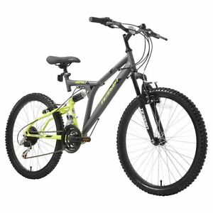 Terrain-1024XT-24-034-Unisex-Mountain-Bike-Grey-18-034-Steel-Frame-Dual-Suspension