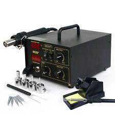2in1 Digital SMD Hot Air Rework Station Solder Blower Heat Gun w/ 4 5 With Tray