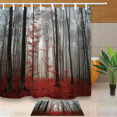 Red Christmas ball Shower Curtain Bathroom Waterproof Fabric /& 12Hooks 71*71inch