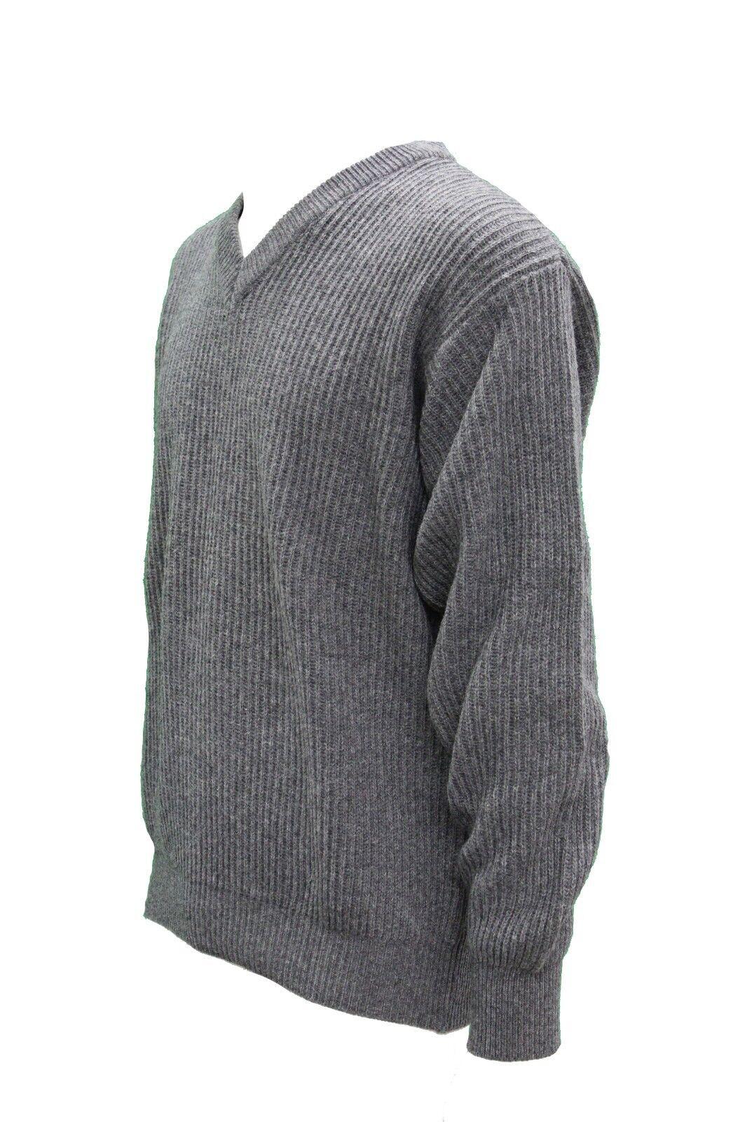 Maglia uomo V 730 manica bordeaux lunga bordeaux manica rombi lana vergine M XL XXL 0375cc