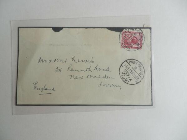 1910, Port Taufiq (Égypte) à New Malden, Surrey. Front De Couvrir Uniquement.