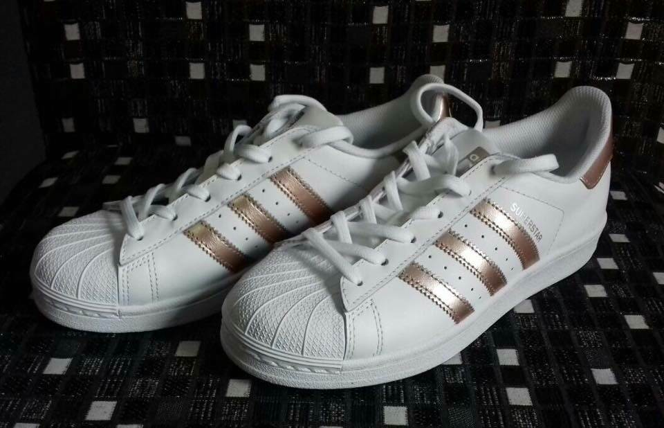 Adidas rosa superstar scarpe originali delle donne d'oro bianco / rosa Adidas da ginnastica, numero 6 973e0c