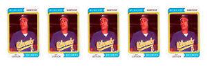 (5) 1992 SCD #7 Pat Listach Baseball Card Lot Milwaukee Brewers