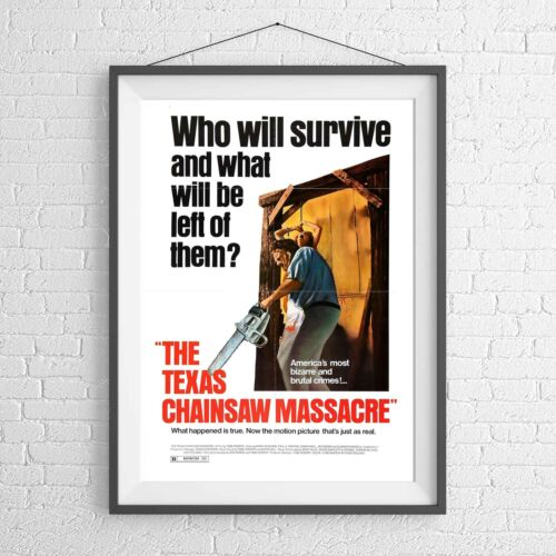 TEXAS CHAINSAW MASSACRE CULT CLASSIC MOVIE POSTER PICTURE PRINT Sizes A5 to A0 *