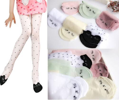 Children Kids Girls Lovely Pantyhose Cat Utralthin Stockings Daily Autumn Socks