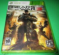 Gears Of War 3 Microsoft Xbox 360 Factory Sealed Free Shipping