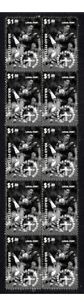 RUGBY-LEAGUE-STRIP-OF-MINT-VIGNETTE-STAMPS-ROOSTERS-FITTLER