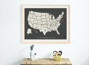Personalized Travel Map Kid S Usa Map Decor Usa Travel Map Wall