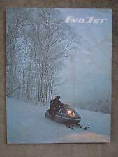 1972 Vintage Sno Jet Snowmobile brochure Star Jet SST Jet Super Jet