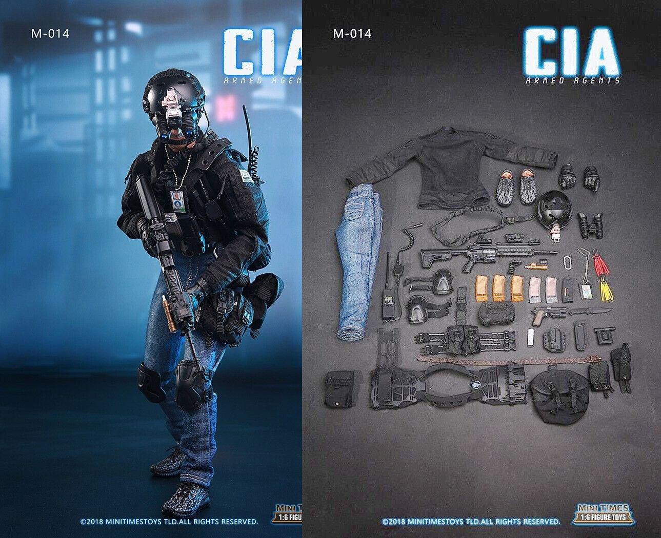12  CIA Male Special Agent Spy Figure 1 6 Detective Clothes Arms Weapon Suit