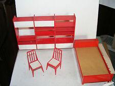 Alte Möbel-Schlafzimmer-60/70er Jahre-Design-Puppenhaus-Puppenstube-ca 1:12