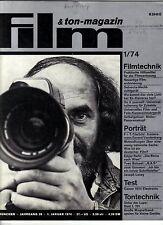 Film &Ton-Magazin 1/74 Edgar REITZ Reise nach Wien Joseph Losey Filmstadt Berlin
