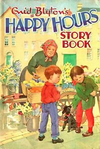 ENID-BLYTON-HAPPY-HOURS-STORY-BOOK-VINTAGE-1960s-HARDBACK-WITH-DUSTWRAPPER