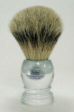 HANS BAIER Rasierpinsel Acrylglas Dachshaar Silberspitz 22 mm hochwertig Germany