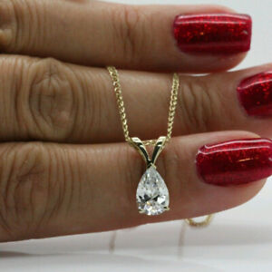 2Ct-Pear-Cut-Diamond-Solitaire-Pendant-Necklace-For-Womens-10k-Solid-Yellow-Gold