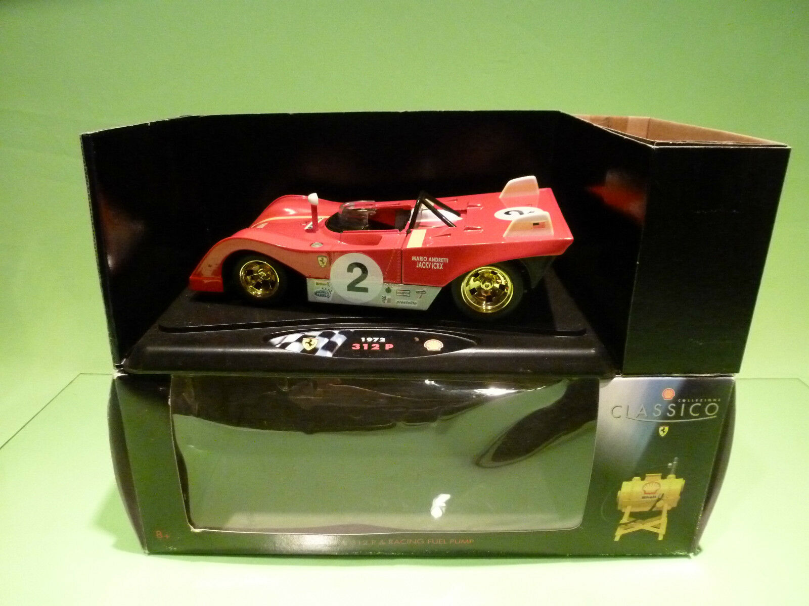 SHELL DUTCH PROMO 1 18  FERRARI 312 P 1972 ICKX - RARE SELTEN - NEAR MINT IN BOX
