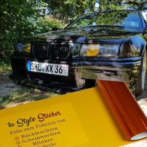 Folie-Orange-US-Blinker-Folie-100cm-x-30cm-Folierung-Blinker-Auto-Scheinwerfer