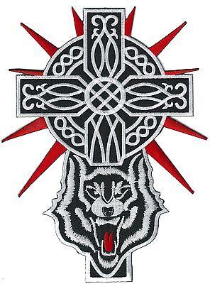 Noeud Celtique Cross Patch fer coudre /Écusson brod/é de moto