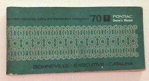 Details about Vintage 1970 Pontiac Bonneville ~ Executive ~ Catalina  Owner's Manual ~