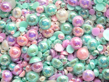 Candycabsuk 50g mixtas Flatback Imitación La Mitad Perlas Cabujones Hazlo tú mismo comprar a granel Sweet Pea