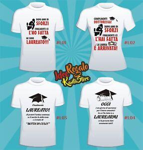 T Shirt Laurea Frasi Divertenti Idea Regalo Ebay