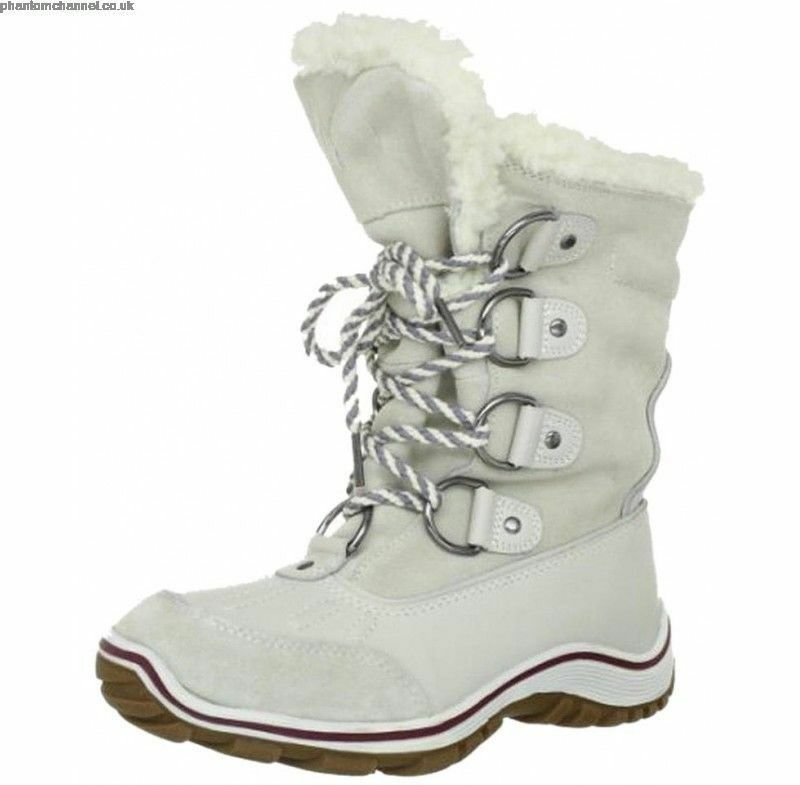 NEW IN BOX Pajar WHITE WHITE WHITE Snow Boots Calf Height New In Box Woman Size 10 Uk 41 fc4046