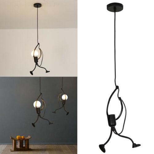 Home Decor Creative Iron People Lamp Modern Charming Hanging Chandelier Hanger