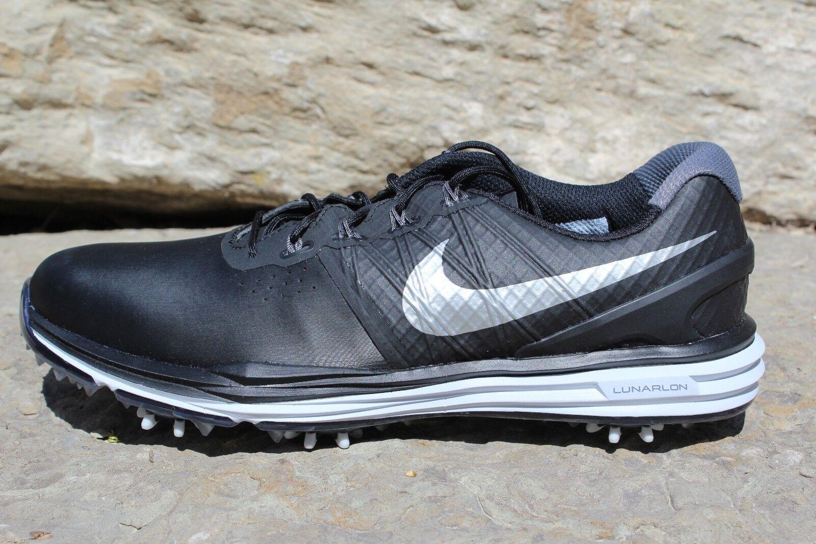 16 New Mens Nike lunar 3 control mens Black golf SZ shoes 704665 001 sneakers SZ golf 8 e58206