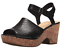 Clarks-Women-039-s-Maritsa-Nila-Black-Leather-Wedge-Sandal-26132121 thumbnail 1