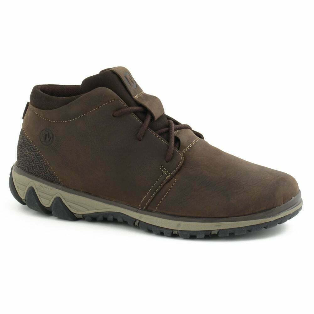 MENS MERRELL LEATHER ALL OUT BLAZE CHUKKA CLAY ANKLE CASUAL DESERT Stiefel 7-12