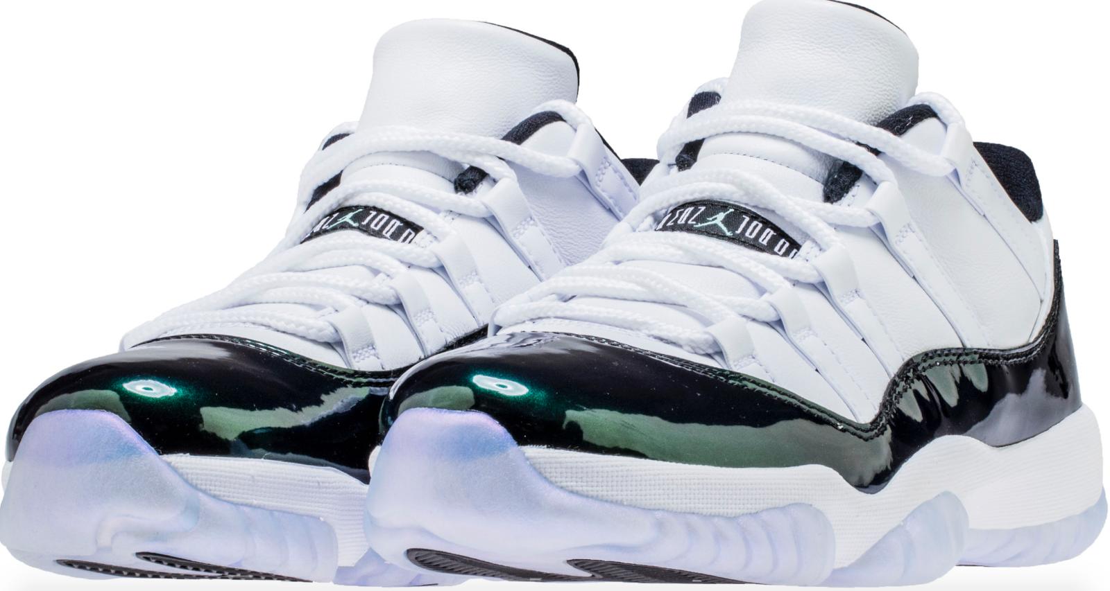 Nike Nike Nike Air Jordan XI retro 11 bajo verde esmeralda Rise Easter 528895-145 autentico el último descuento zapatos para hombres y mujeres a0a279