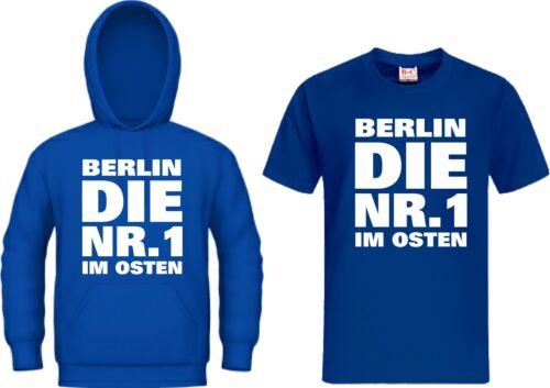 Kapuzensweat BERLIN DIE NR.1 IM OSTEN Hoodie Ultras Trikot T-Shirt
