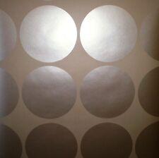 Large Metallic Dark Brown Circle Wallpaper by Blonder  AW11012