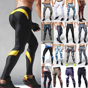 UK Mens Compression Base Layer Pants Sports Gym Running Fitness Leggings Bottoms