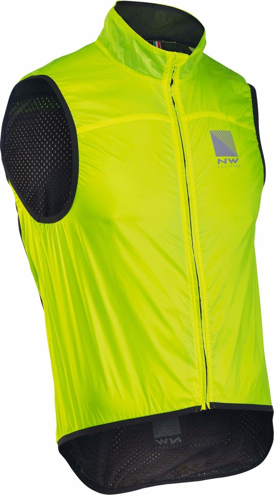 Cape Weste Northwave BREEZE2 vest gelb fluo/vest BREEZE2 weiß Northwave