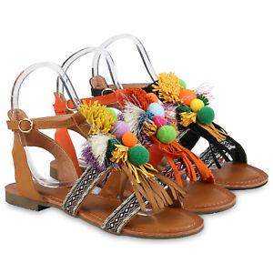 Pom Pom Schuhe : riemchensandalen damen fransen sandalen ethno pom poms boho 815440 schuhe ebay ~ Frokenaadalensverden.com Haus und Dekorationen