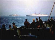 Photo: Color: Sinking SS Andrea Doria & The Ile De France, July 26, 1956