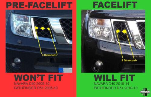 Offside Right RH phare pour Nissan Navara D40//Pathfinder 2010 Phare RHD